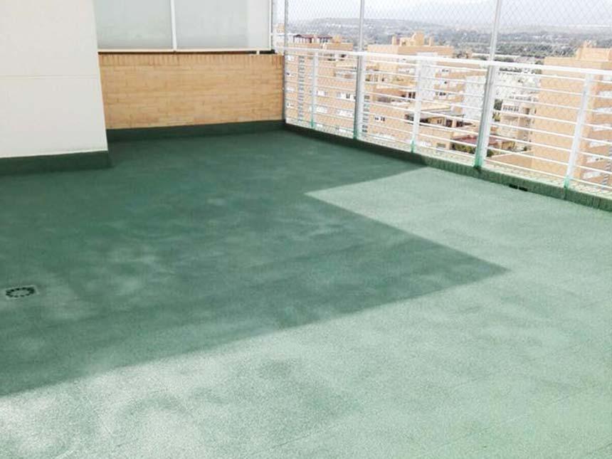 Corcho proyectado para terrazas | Aislamientos Albacork Albacete, Alicante, Cuenca y Murcia